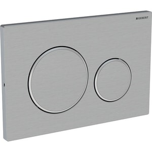 Geberit Sigma20 Dual Flush 316 Stainless Steel Actuator Plate for Sigma 2 x 6 in. and 2 x 4 in. Concealed Tank G115889SN1
