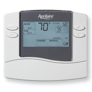 Aprilaire 8400 Series 1H/1C Heat Cool Dual Power Non Programmable Thermostat R8444