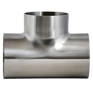 Topline Process Equipment 1 in. OD 304L Stainless Steel Tee TL7WWW74