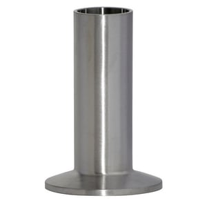 Topline Process Equipment 14WLMP 2 in. Clamp x Weld Long 316L Stainless Steel Ferrule T14WLMP6K