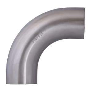 Topline Process Equipment 3 in. Weld Polished 316L Stainless Steel 90 Degree Bend TL2S76M