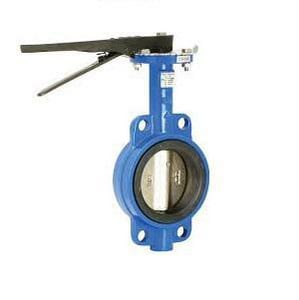 Tyco 4 in. Ductile Iron and Plastic Wafer Butterfly Valve T59300W00WS