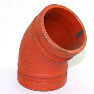 Tyco 1-1/2 in. Grooved Painted Cast Iron 11-1/4 Degree Elbow T51115S