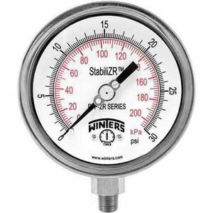 Winter's Thermogauges 2 in. 100 psi Steel Pressure Gauge WPEM1407