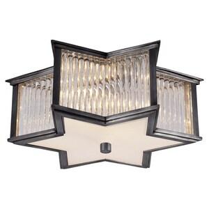 Visual Comfort & Co Alexa Hampton Sophia 2-Light Flushmount Ceiling Light in Gun Metal VAH4016GMCGFG