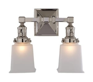 Visual Comfort & Co E.F. Chapman Boston 60W 2-Light Bath Wall Light in Polished Chrome VSL2942CHFG
