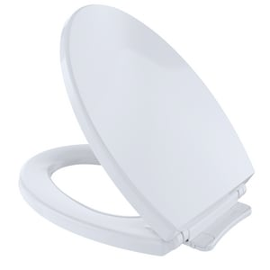 TOTO SoftClose® Elongated Closed Front Toilet Seat With Cover in Cotton TSS114