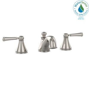 TOTO Vivian® 1.2 gpm 3-Hole Deck Mount Widespread Lavatory Faucet with Double Lever Handle and 6 - 12 in. Center Size in Polished Nickel TTL220DD112PN