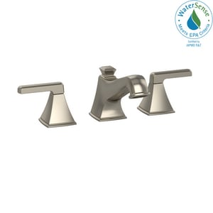 TOTO Connelly™ 1.2 gpm 3 Hole Widespread Bathroom Sink Faucet with Double Lever Handle in Brushed Nickel TTL221DD12BN