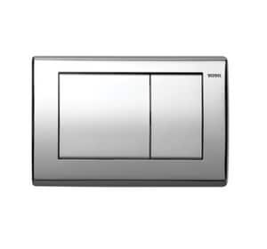 Toto USA Convex Push Plate with Dual Button in Polished Chrome TYT820