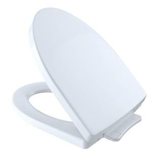 TOTO Soiree® Elongated Closed Front Toilet Seat With Cover in Cotton TSS21401