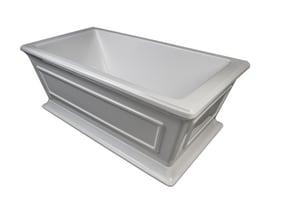 JACUZZI® Nova™ 60 x 42 in. Drop-in Acrylic Rectangular Bathtub with Left Hand Drain in White JNOV6042WLR2XXW