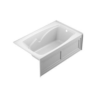 JACUZZI® Cetra® 60 x 36 in. Whirlpool Alcove Bathtub Left Drain in White JCTS6036WLR2HXW