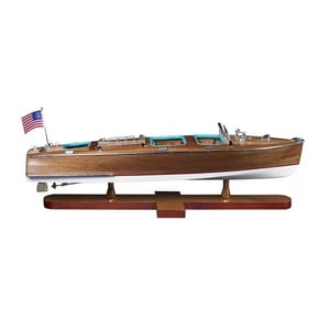 Authentic Models Americas 7-1/2 x 24-1/4 x 7-3/4 in. Triple Cockpit Model in Blue and Brown AAS183