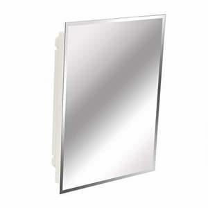American Pride 36 x 24 in. Framed Mirror in White AS536Z112