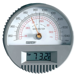 Oakton Instruments 140F Wall Mount Barometer with Digital Thermometer OWD0331680 at Pollardwater