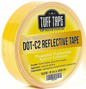 Bron Tapes 6 in. Reflective Tape in Yellow and Black BB1765