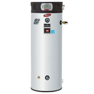 Bradford White eF Series® 100 gal. 150000 BTU 150 MBH 120V High Efficiency and Tall Stainless Steel Natural Gas and Propane Commercial Water Heater BEF100T1503X2