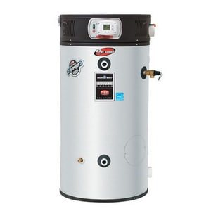 Bradford White eF Series® 60 gal. 125000 BTU 125 MBH 120V High Efficiency and Tall Stainless Steel Natural Gas and Propane Commercial Water Heater BEF60T125E5N2