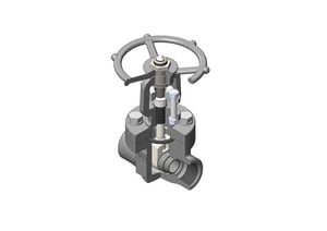 Vogt Valves 1-1/2 in. Forged Steel Conventional Port FNPT Gate Valve V12111