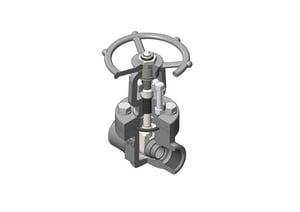 Vogt Valves 1-1/2 in. Forged Steel Conventional Port Socket Weld Gate Valve VSW12111