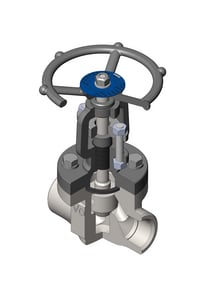 Vogt Valves SW12141 Series 1/2 in. Forged Steel Socket Weld Rising Valve Stem Globe Valve VSW12141D