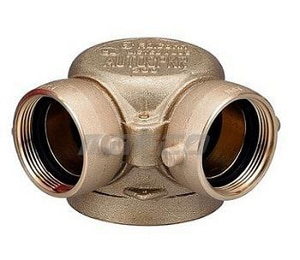 Pacific Fire Safety 2-1/2 x 2-1/2 in. Angle Fire Department Connection national standard thread P602910