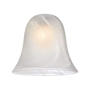 Destination Lighting White Alabaster Bell Glass Shade with Mouth Blown 1 Pack D422054