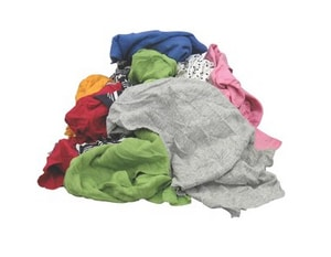 Industrial Products Supply 25 lb Box of Assorted Color Polo Rags IU31