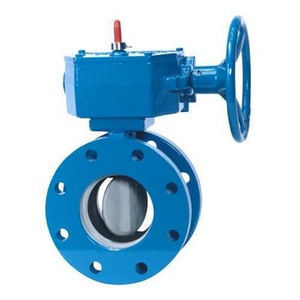 500 Series 18 in. Ductile Iron Buna-N Gear Operator Handle Butterfly Valve CKK1863