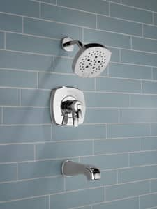 Delta Faucet Stryke™ Double Handle 6-function Pressure Balancing Tub and Shower Faucet Trim Only in Brilliance® Stainless DT17476SS
