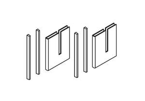 Kohler Bypass Handle Kit Assembly in Bright Silver K1187796-SH