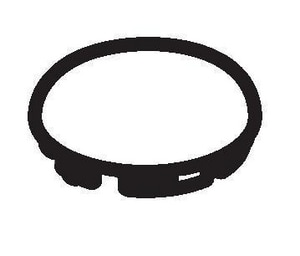 Kohler Circle Graphics Plug Button in Almond K1024303-47