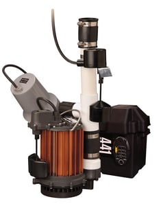 Liberty Pumps PC Series 1/3 HP Sump Pump Combo 115V & 12V Battery Sump Pump Back-Up System LPC257441