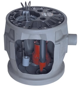 Liberty Pumps P380 Series 115V 1/2 hp  Simplex Sewage Package with Alarm LP382LE51A2