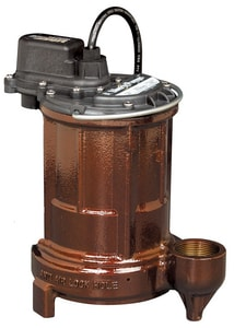 Liberty Pumps 250 Series 1/3 HP 115V Vertical Magnetic Float Cast Iron Submersible Sump Pump L257 at Pollardwater