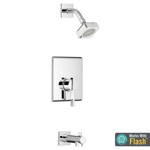 American Standard Times Square® Single Handle Single Function Bathtub & Shower Faucet in Polished Chrome (Trim Only) ATU184508002