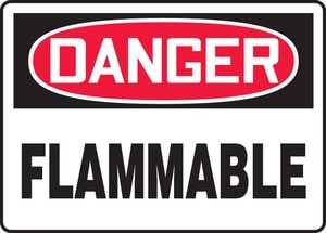 Accuform 14 x 10 in. Plastic Sign - DANGER FLAMMABLE AMCHL231VP at Pollardwater