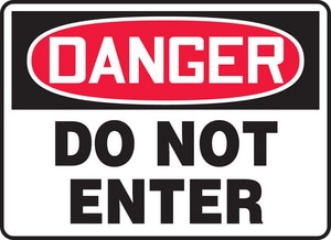 Accuform Signs 7 x 10 in. Danger Do Not Enter Sign AMADM138VP
