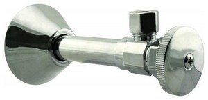 Capstone International Development 1/2 x 3/8 in. Sweat x Compression Angle Valve Kit in Brushed Nickel FPP280233