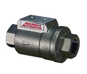 Assured Automation VA Series 1-1/2 in. Pneumatic Nickel Plated Brass Actuator A150VACVV