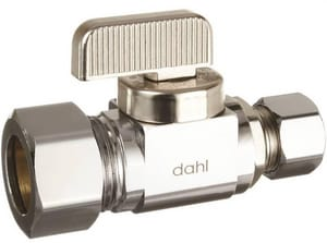 Dahl Brothers Mini-Ball™ 5/8 in x 1/4 in Loose Key Handle Straight Supply Stop Valve in Polished Chrome D5113330BAG
