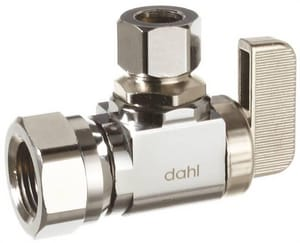Dahl Brothers Mini-Ball™ 3/8 in Lever Handle Straight Supply Stop Valve in Rough Brass D6115231BAG