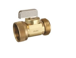 Dahl Brothers Mini-Ball™ 1/2 in. Female Solder x Male Solder Hose in Rough Brass D6211304BAG