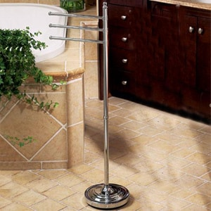 Gatco 3-Arm Floor Towel Stand in Polished Chrome G1354