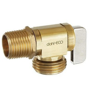 Dahl Brothers Mini-Ball™ 1/2 in. Female Solder x Male Solder Straight Supply Stop Valve in Rough Brass D521LB1323BAG