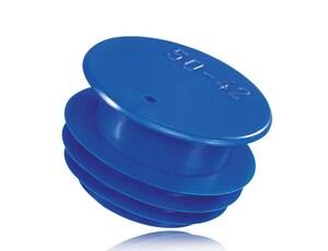 Capstone International Development 8 in. Straight LDPE Rib Plug in Blue JJJGF280X