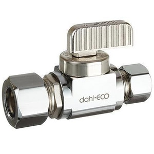 Dahl Brothers Mini-Ball™ 5/8 in x 3/8 in Lever Handle Straight Supply Stop Valve in Polished Chrome D5113331
