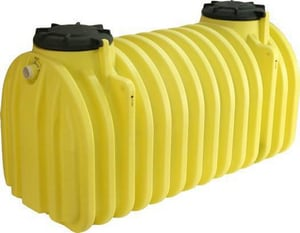 Roth Global Plastics 1500 gal Poly Septic Tank with Baffle RRMT15002P