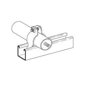 Cooper B-Line B2000 Series 1-1/4 in. OD 304 Stainless Steel Pipe and Conduit Clamp BB2031SS4